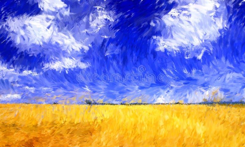 Pintura a óleo do impressionismo ilustração do vetor