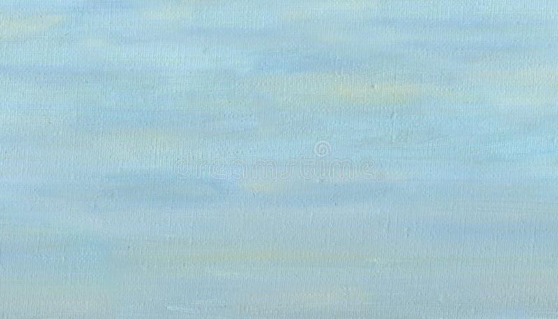 Pintura a óleo na lona Céu nublado da mola ilustração royalty free
