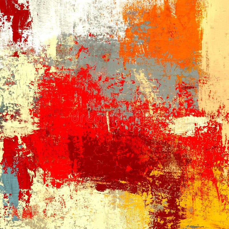 Pintura a óleo na lona feito a mão Textura da arte abstrato Textura colorida arte finala moderna Cursos da pintura gorda brushstr ilustração royalty free