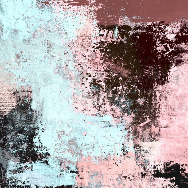 Pintura a óleo na lona feito a mão Textura da arte abstrato Textura colorida arte finala moderna Cursos da pintura gorda brushstr ilustração stock