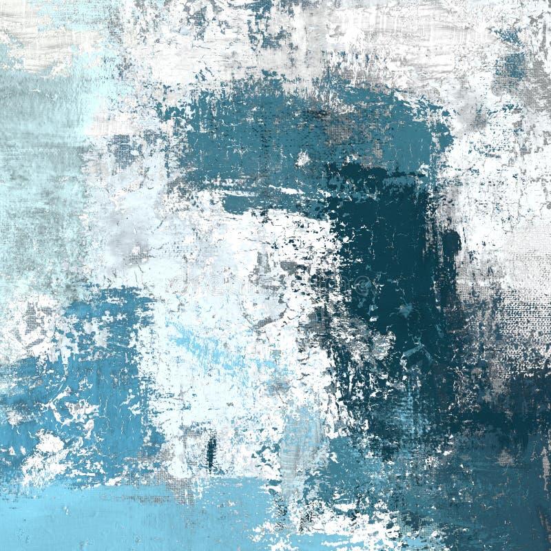 Pintura a óleo na lona feito a mão Textura da arte abstrato Textura colorida arte finala moderna Cursos da pintura gorda brushstr ilustração do vetor
