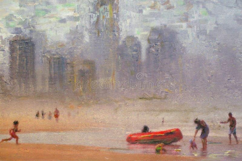 Pintura a óleo original ilustração do vetor