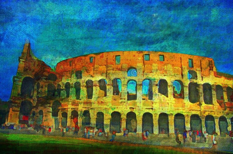 Pintura a óleo original ilustração stock
