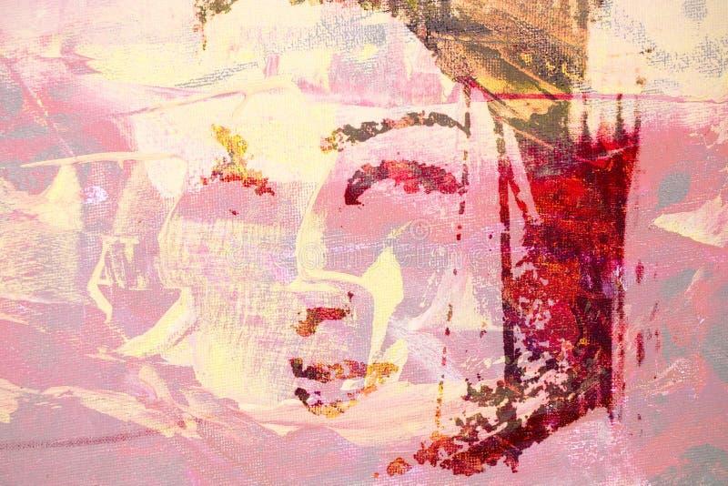 Pintura a óleo original ilustração royalty free