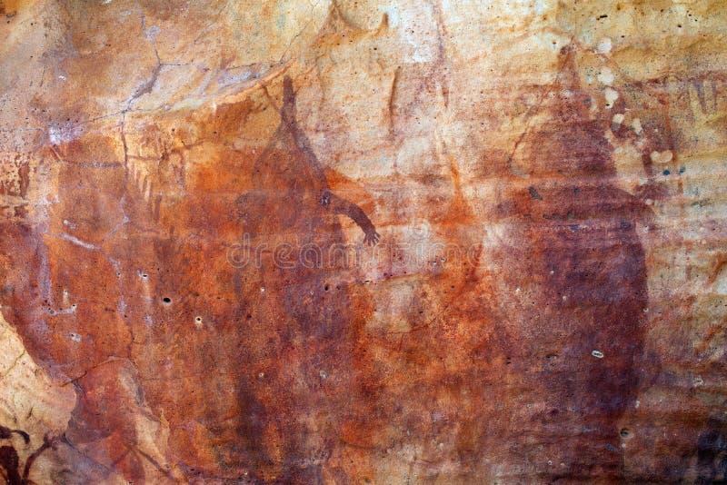 Pintura aborigen de la roca imagen de archivo