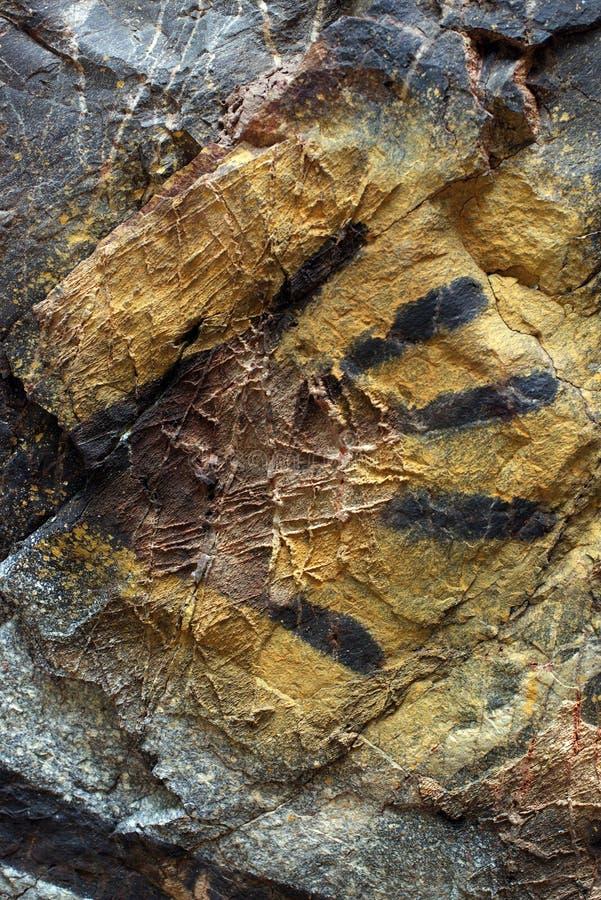 Pintura aborigen de la roca, mano imágenes de archivo libres de regalías