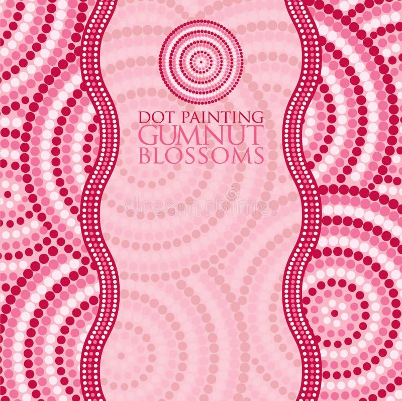 Pintura aborigen del punto en formato del vector ilustración del vector
