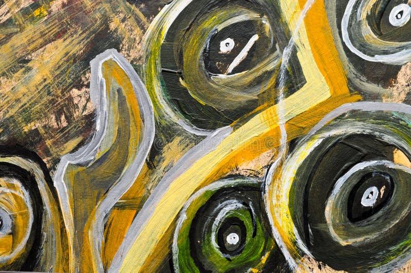 Pintura abstracta imagenes de archivo