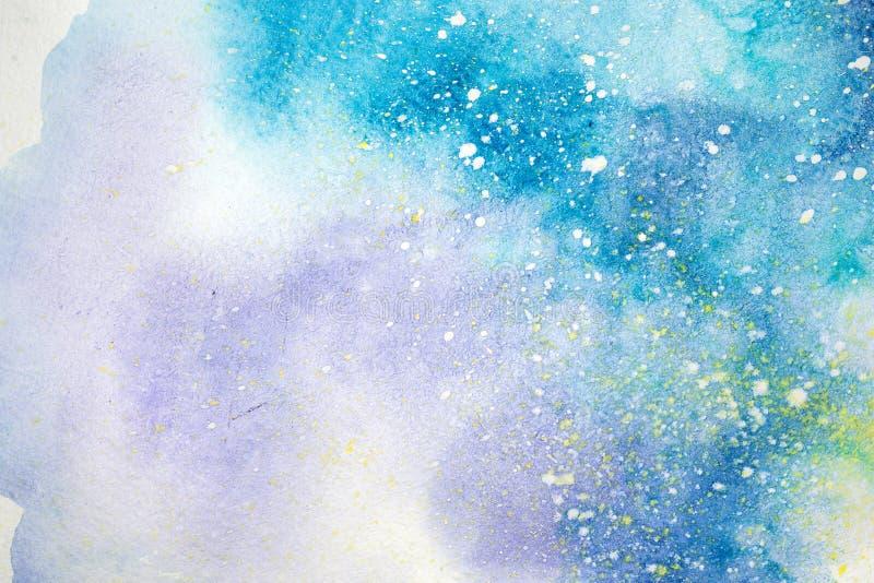Pintura abstracta de la acuarela dibujo del color de agua El Watercolour borra el fondo de la textura libre illustration