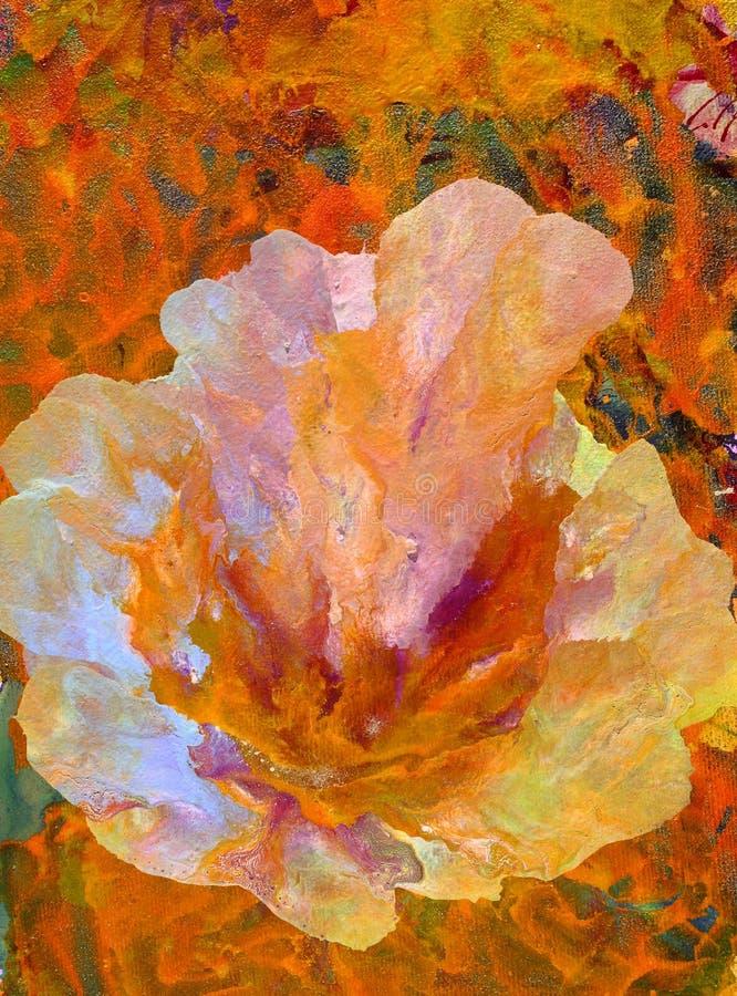 Pintura abstracta de la flor fotografía de archivo