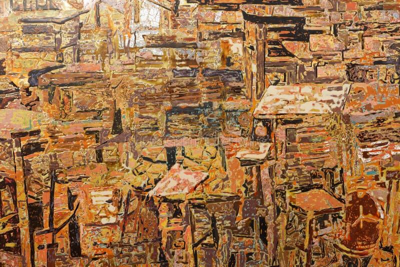 Pintura abstracta de la pintura de la laca, adobe rgb imagen de archivo