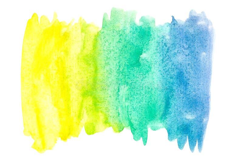 Pintura abstracta de la mano del arte de la acuarela en el fondo blanco Fondo de la acuarela libre illustration