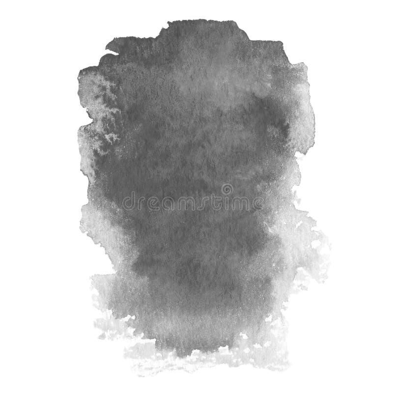 Pintura abstracta de la mano del arte de la acuarela en el fondo blanco libre illustration