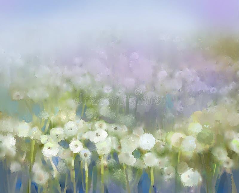 Pintura abstracta de la planta de la flor ilustración del vector