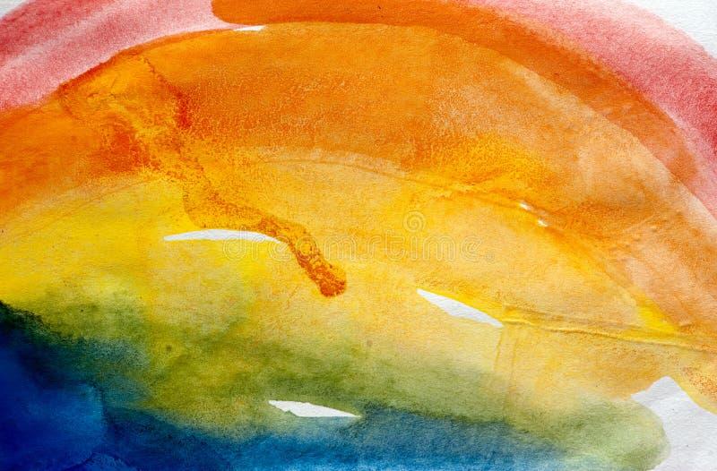 Pintura abstracta de las acuarelas stock de ilustración