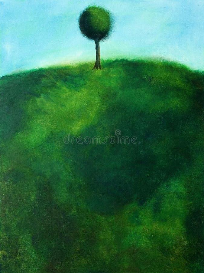 Pintura abstracta de un árbol stock de ilustración