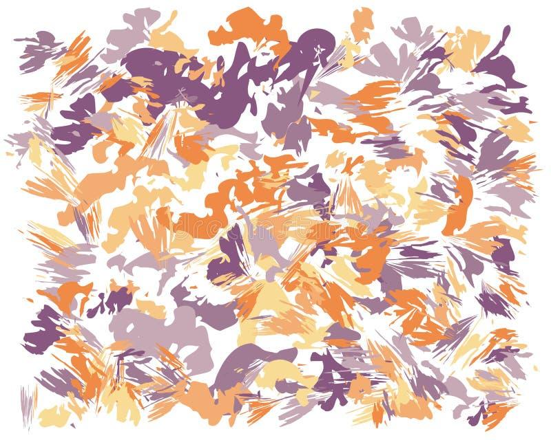 Pintura abstracta del cepillo del aceite ilustración del vector