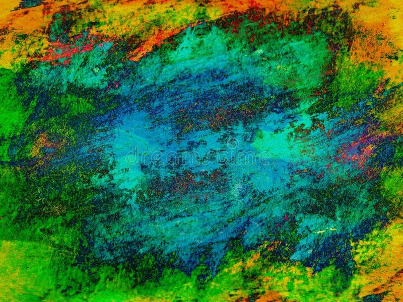 Pintura abstracta del fondo stock de ilustración