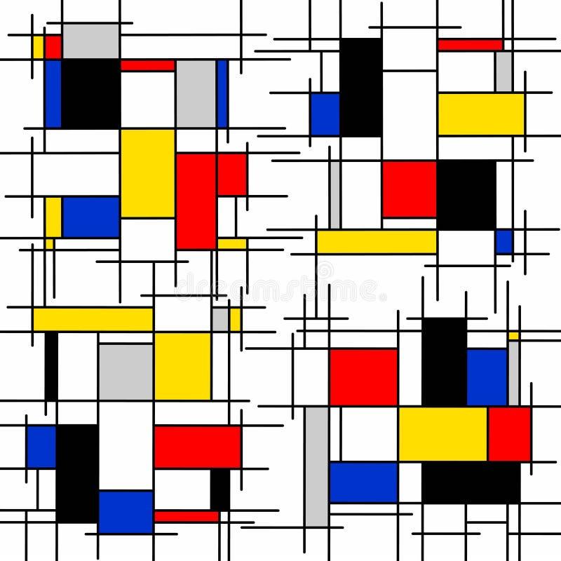Pintura abstracta en el fondo blanco stock de ilustración