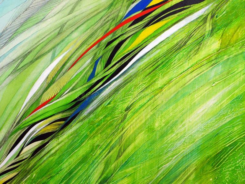 Pintura abstracta hecha a mano Surrealismo y misticismo Pintura abstracta del fondo ilustración del vector