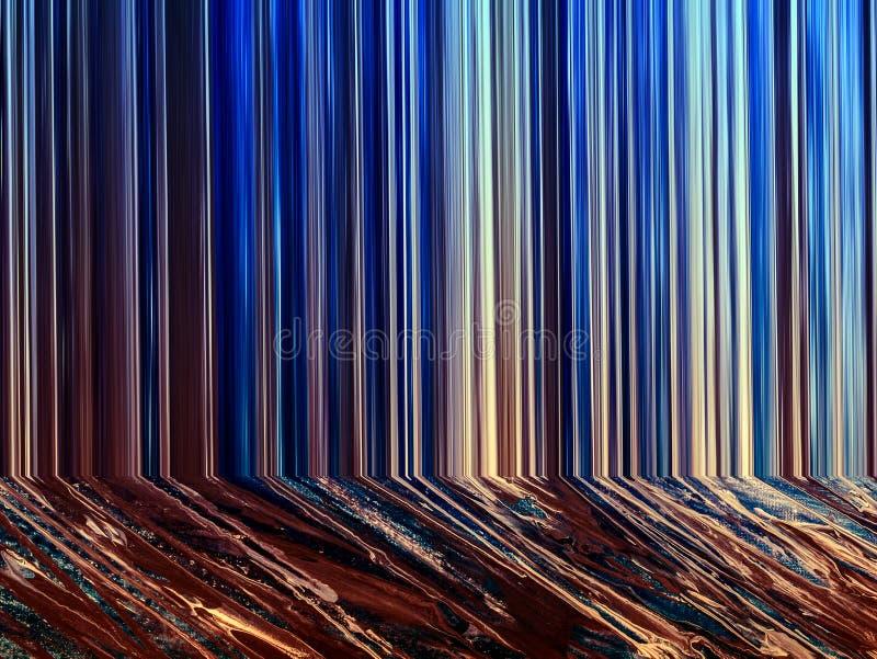 Pintura abstracta hecha a mano Surrealismo y misticismo Pintura abstracta del fondo libre illustration