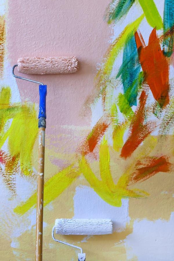 Pintura abstracta la pared fotos de archivo libres de regalías