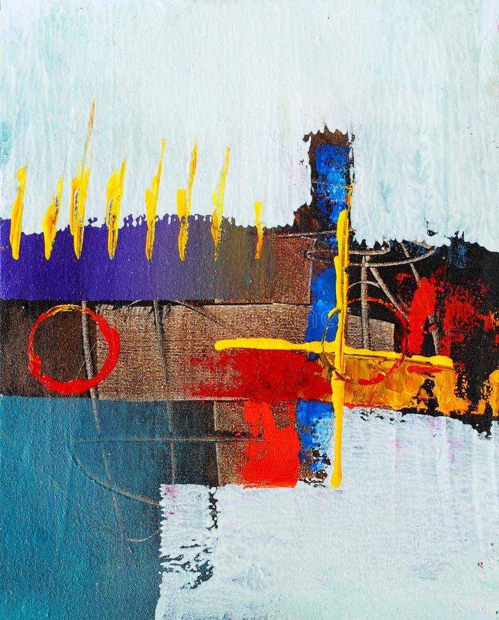 Pintura abstracta muy agradable de I en lona ilustración del vector