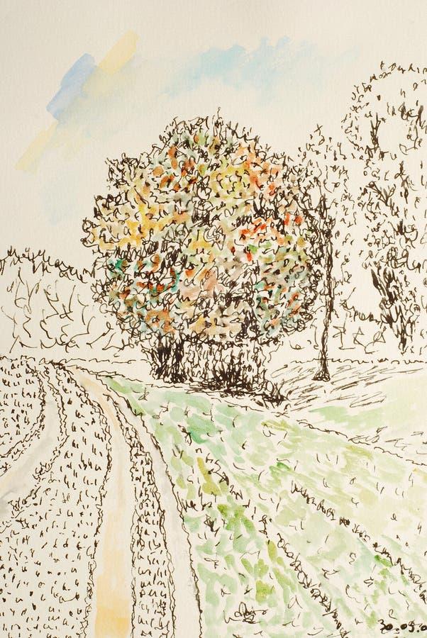 Pintura abstrata ilustração do vetor