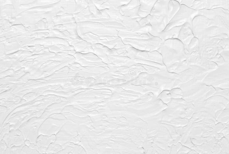 Pintura abstrata branca da textura fotografia de stock