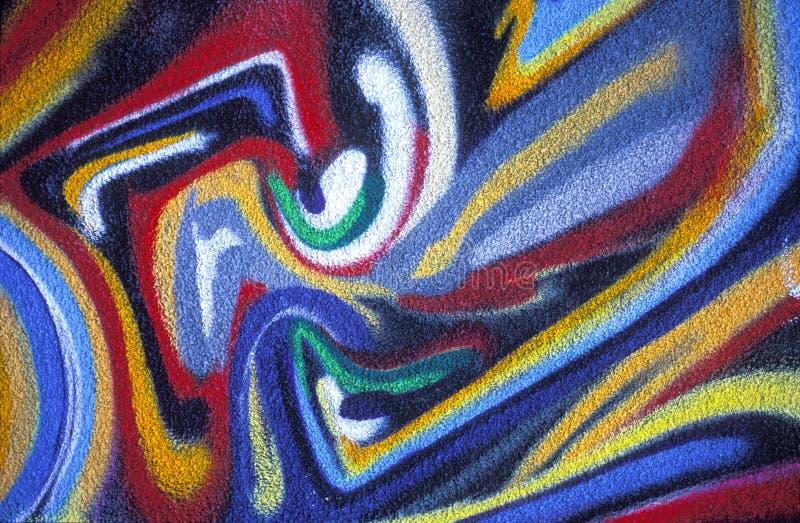 Pintura abstrata colorida imagem de stock