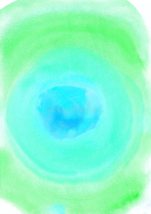 Pintura abstrata da aquarela ilustração do vetor