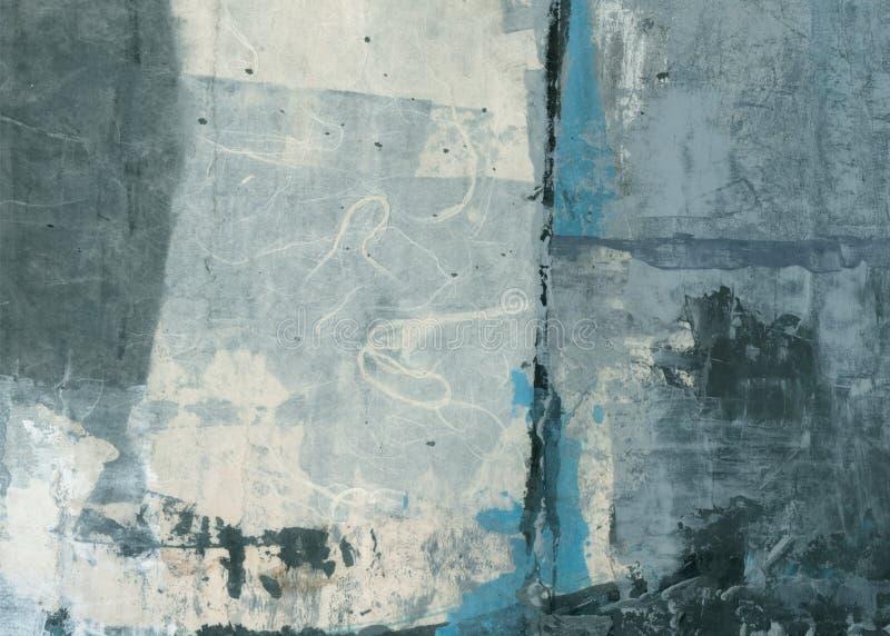 Pintura abstrata da colagem das texturas foto de stock