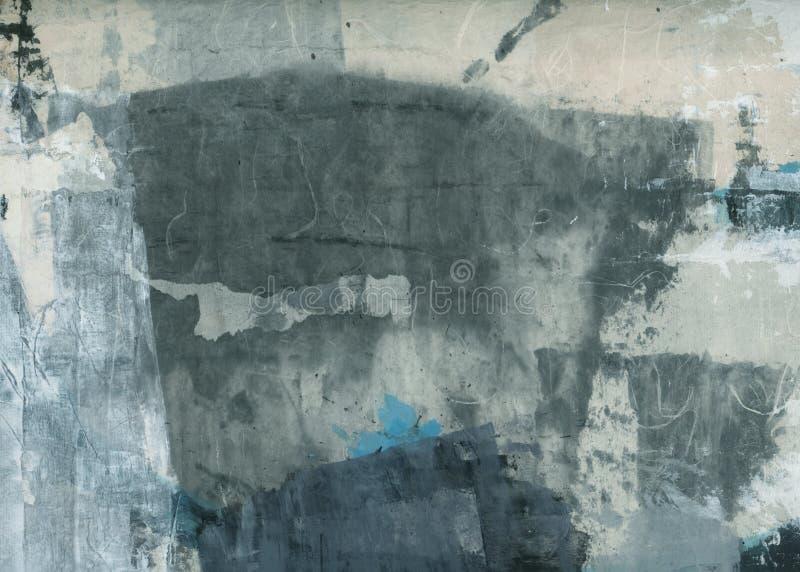 Pintura abstrata da colagem das texturas imagem de stock