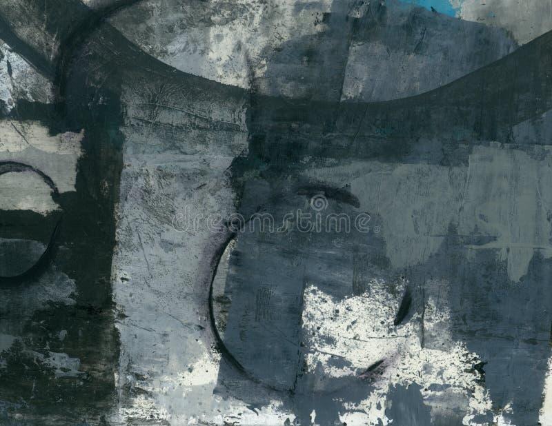 Pintura abstrata da colagem das texturas fotos de stock