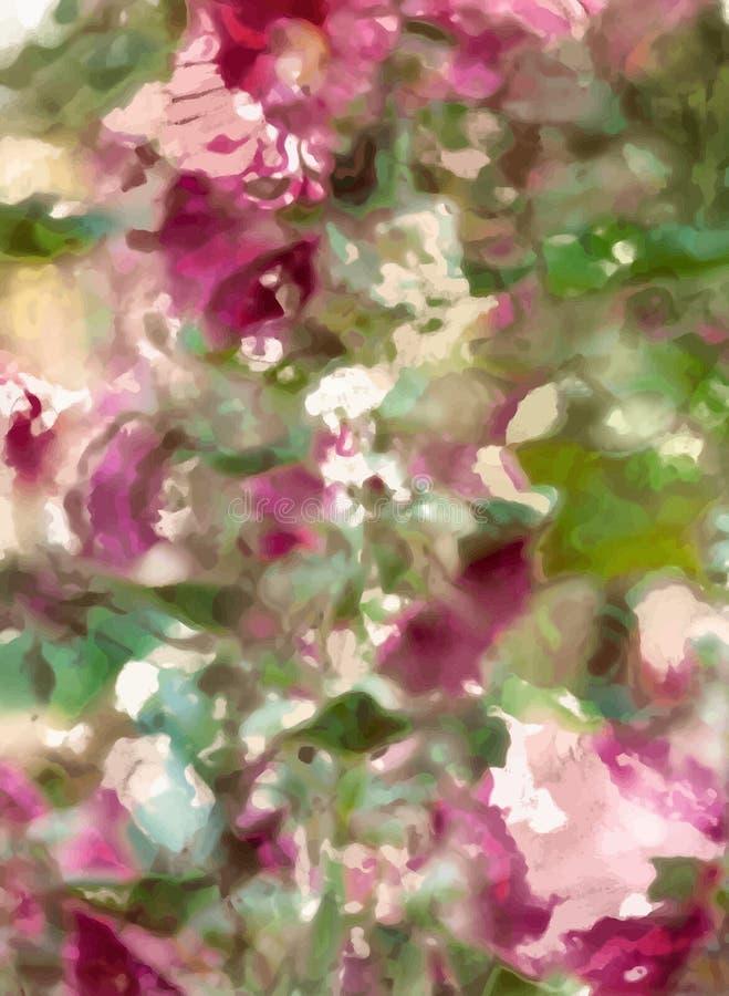 Pintura abstrata da flor ilustração royalty free