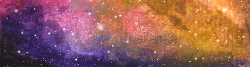 Pintura abstrata da gal?xia C?u nocturno Interestelar profundo da Via Látea ilustração do vetor