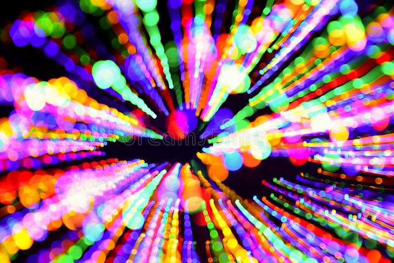 Pintura abstrata da luz da Multi-cor em um fundo preto foto de stock royalty free