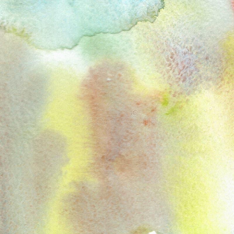 Pintura abstrata da mão da arte da aguarela textura da aquarela Manchas do guache, manchas, pontos ilustração royalty free