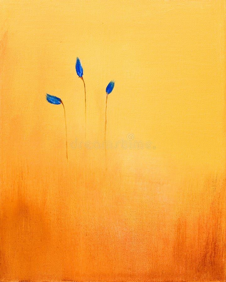 Pintura abstrata das flores ilustração royalty free