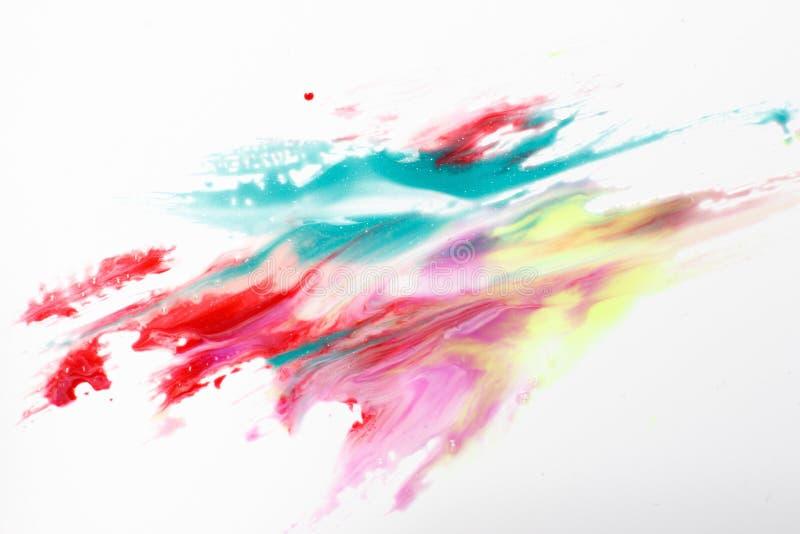 Pintura abstrata de luzes polares brilhantes coloridas imagens de stock