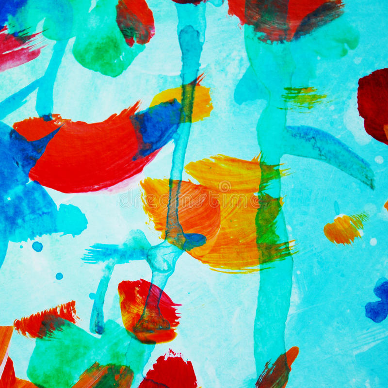 Pintura abstrata decorativa da aquarela, teste padrão, molde, doente ilustração royalty free