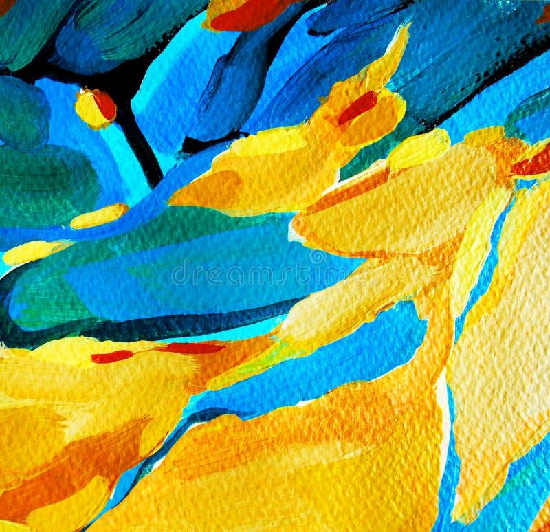 Pintura abstrata decorativa, ilustração ilustração do vetor