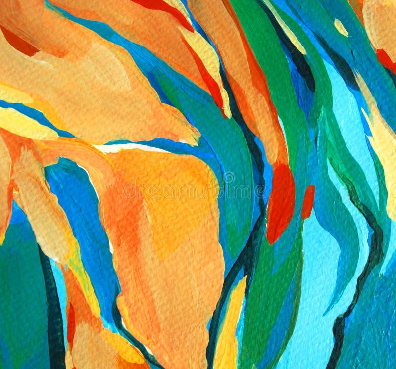 Pintura abstrata decorativa, ilustração ilustração royalty free