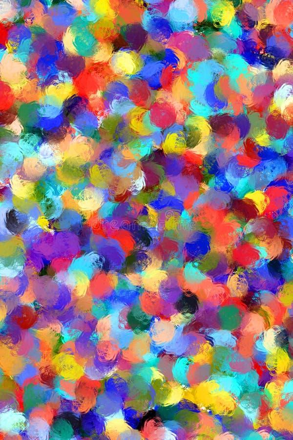 A pintura abstrata denominou o fundo ilustração stock