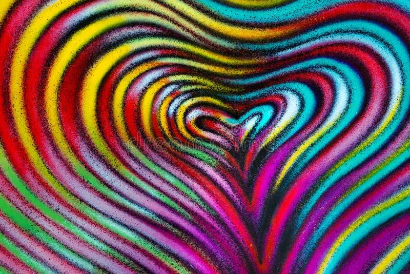 Pintura abstrata do coração ilustração stock