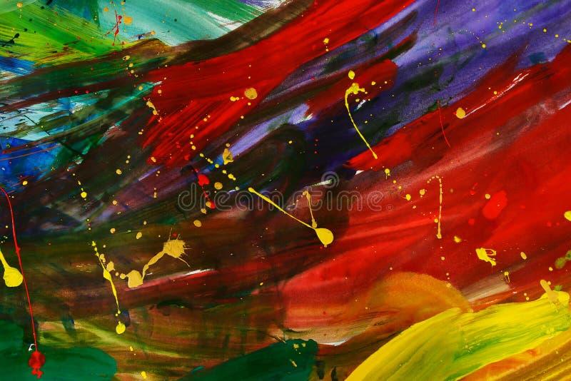 Pintura abstrata do gouache foto de stock