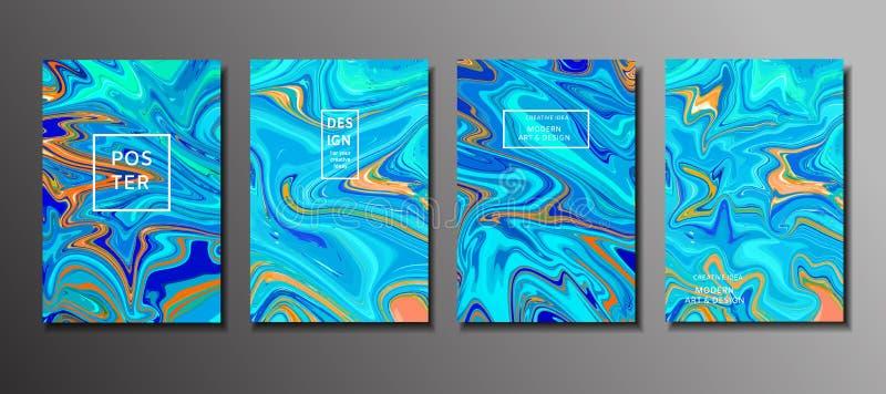 Pintura abstrata, fundo para papéis de parede, cartazes, cartões, dentro ilustração do vetor