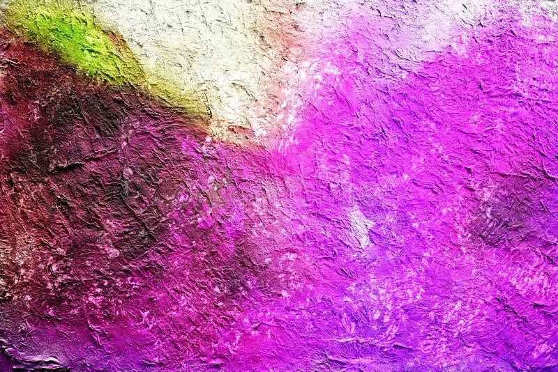 Pintura abstrata fundo tirado pela técnica digital da escova, papel de parede da aquarela com textura da cor completa do teste pa ilustração do vetor