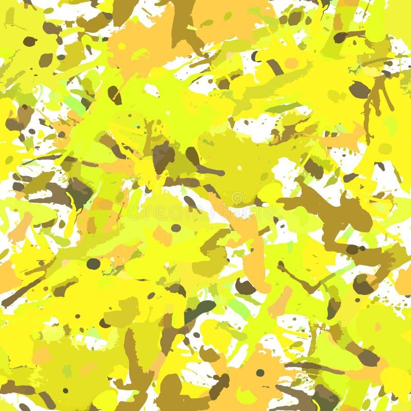 A pintura abstrata funky da cor espirra o teste padr?o sem emenda ilustração royalty free