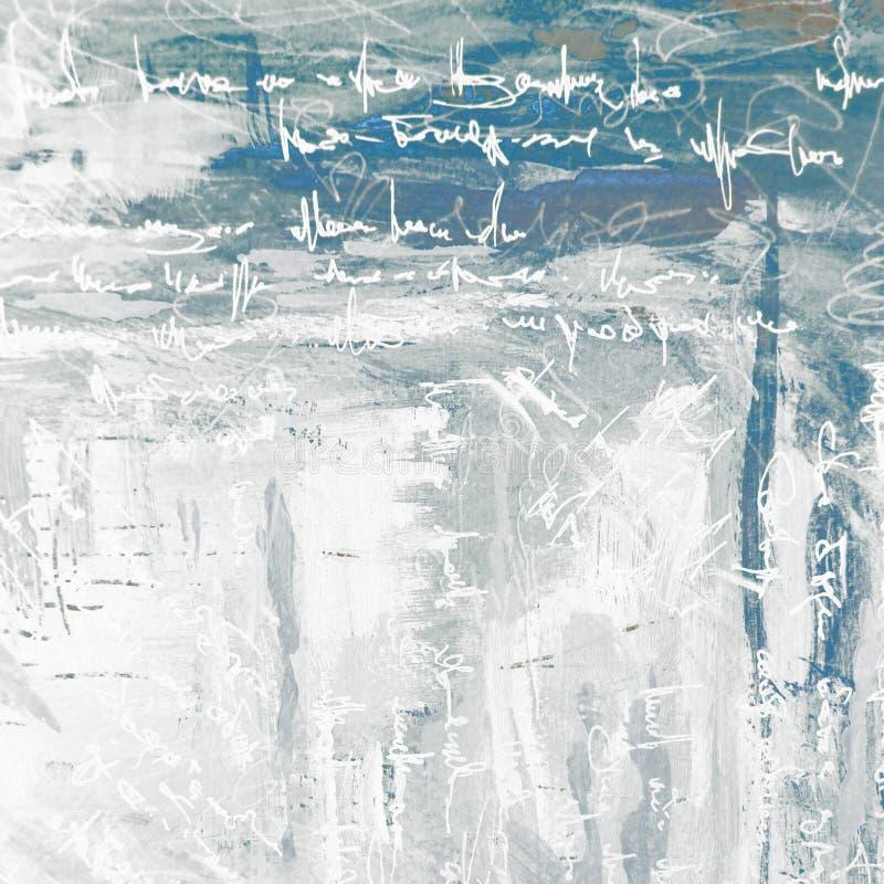 Pintura abstrata para o interior em um fundo cinzento com imitati ilustração do vetor